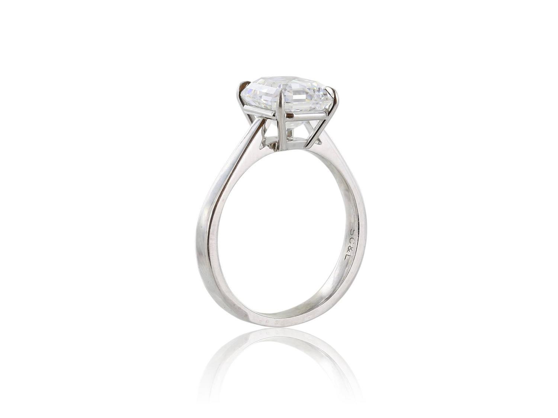 2 79 Carat Gia Cert Emerald Cut Diamond Platinum Ring For