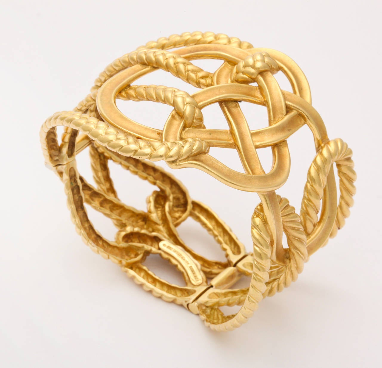 Tiffany And Co Angela Cummings Braided Gold Bracelet At