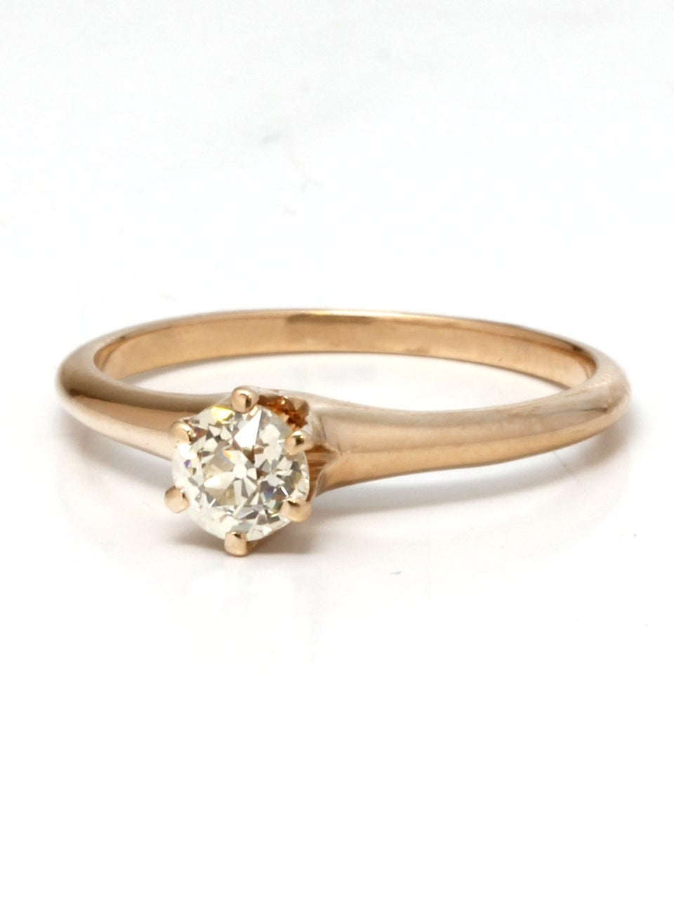 1900s Yellow Gold And Diamond Engagement Ring At 1stdibs