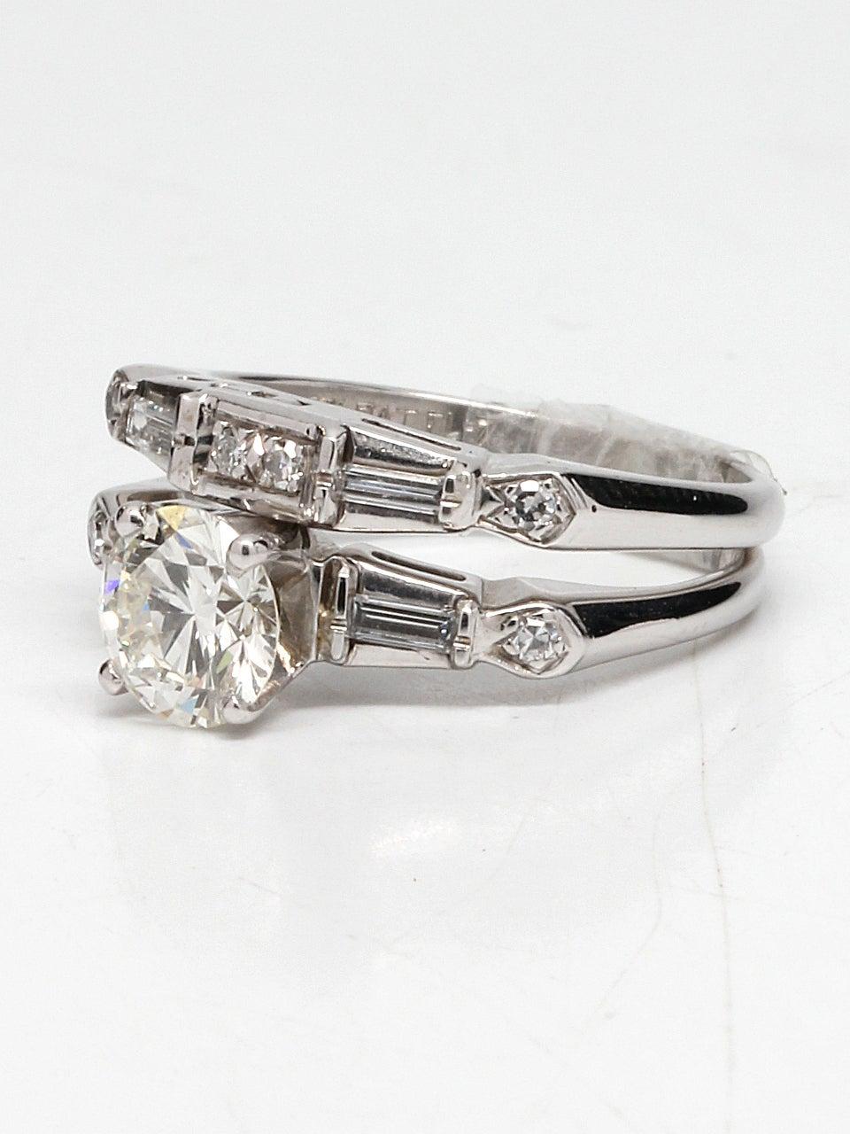 1950s Diamond Gold Wedding Ring Set For Sale At 1stdibs