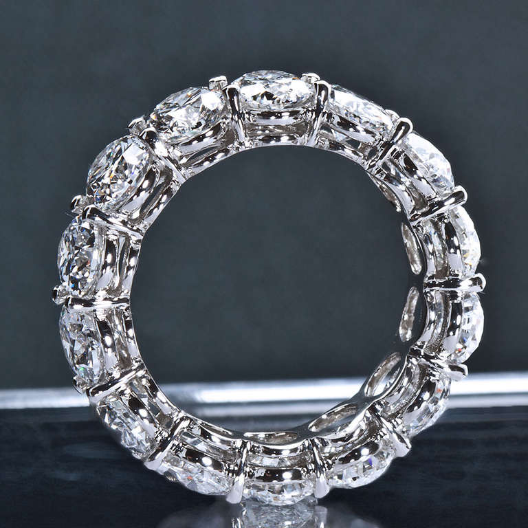 Oval Shaped Diamond Eternity Band At 1stdibs