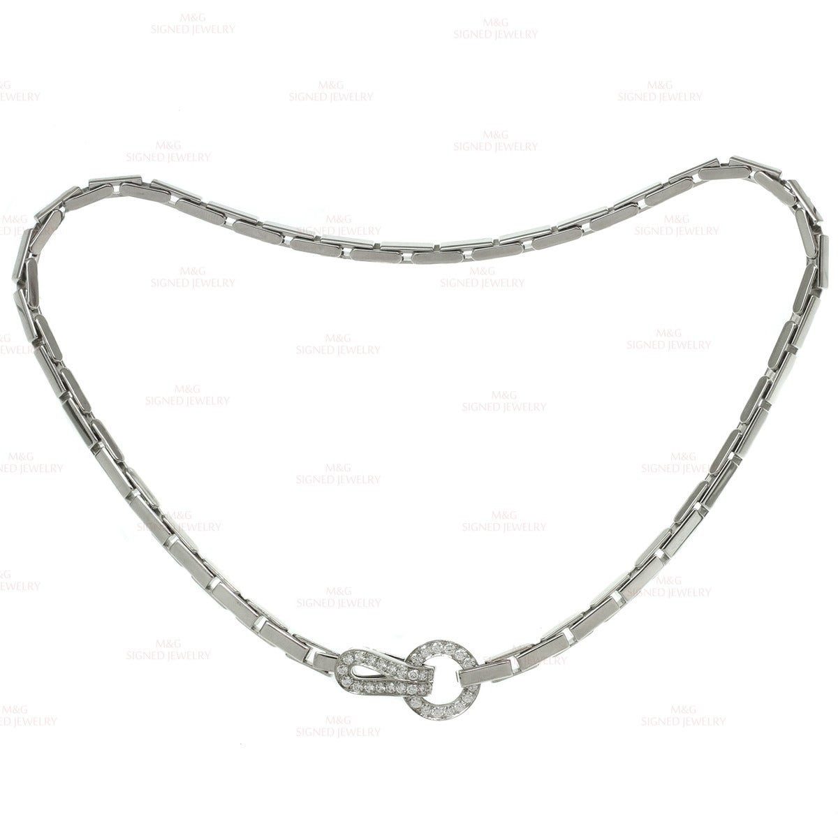 Cartier Agrafe Diamond Gold Necklace And Bracelet At 1stdibs
