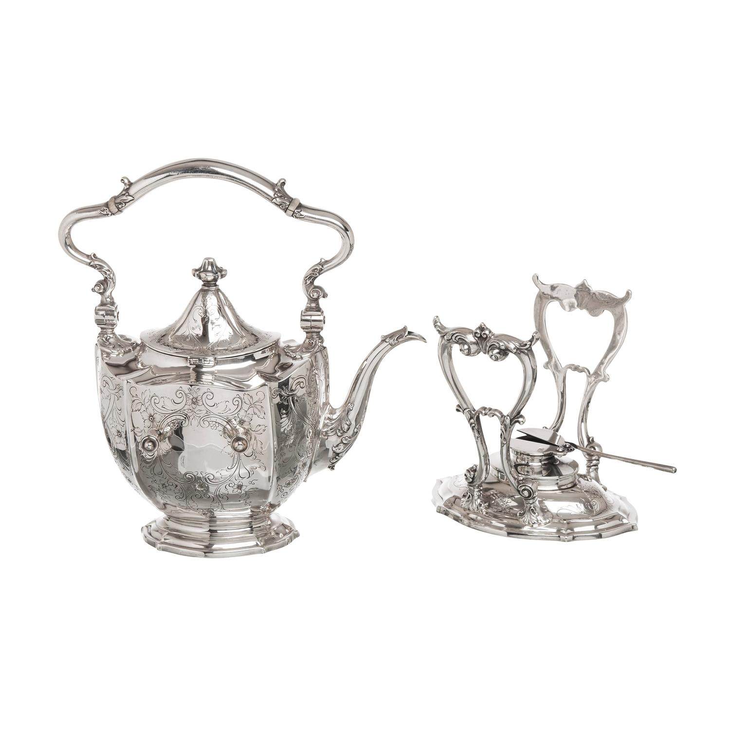 8 Piece Sterling Silver Tea Service Made For Hardy And