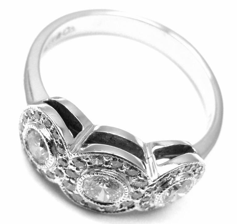 Tiffany And Co Circlet Diamond Platinum Band Ring At 1stdibs