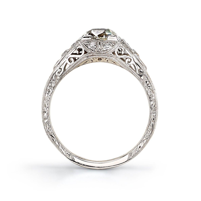 Vintage Cushion Cut Diamond Engagement Ring At 1stdibs
