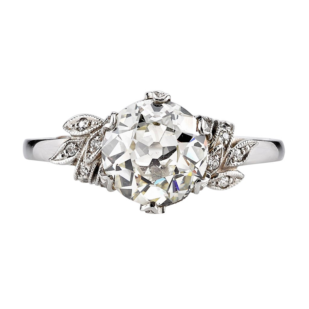 Victorian Floral Engagement Ring At 1stdibs