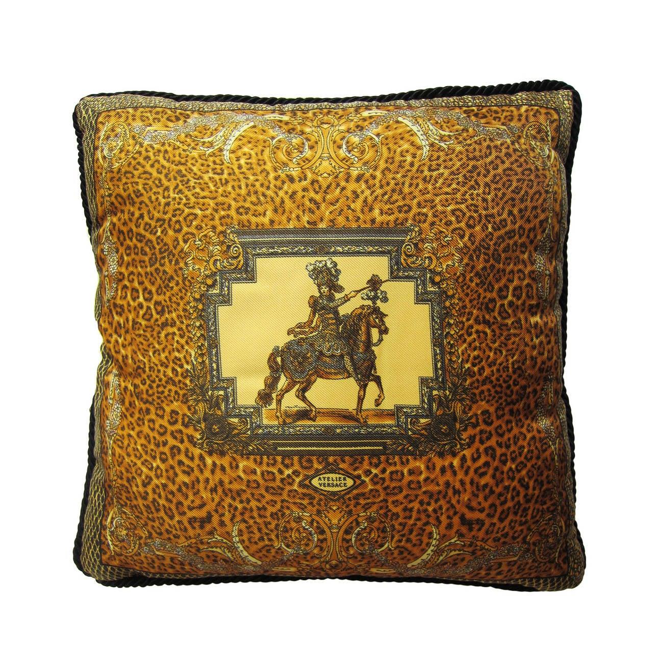 Atelier Versace Silk Pillow Leopard At 1stdibs
