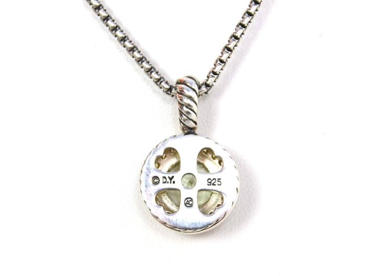 David Yurman Prasiolite And Diamond Necklace For Sale At