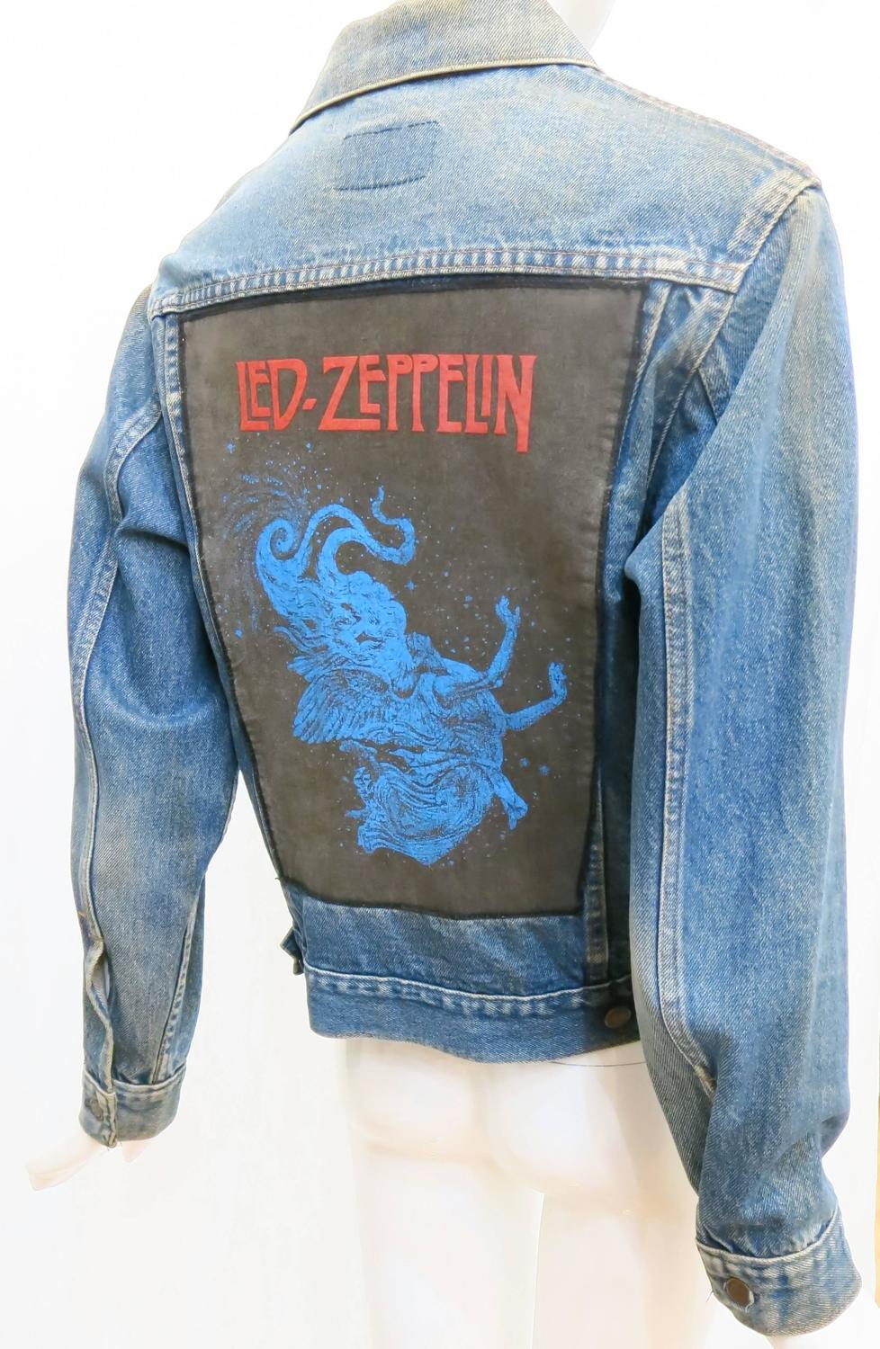 1970s Sears Roebuck And Co Led Zeppelin Denim Jacket At