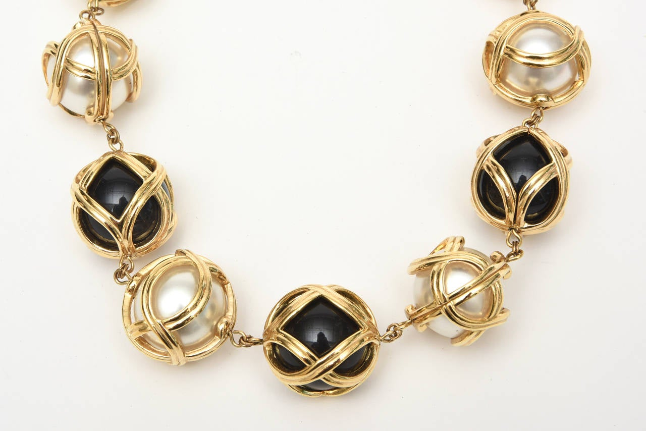 Christian Dior Runway Resin Faux Pearl Gold Plated