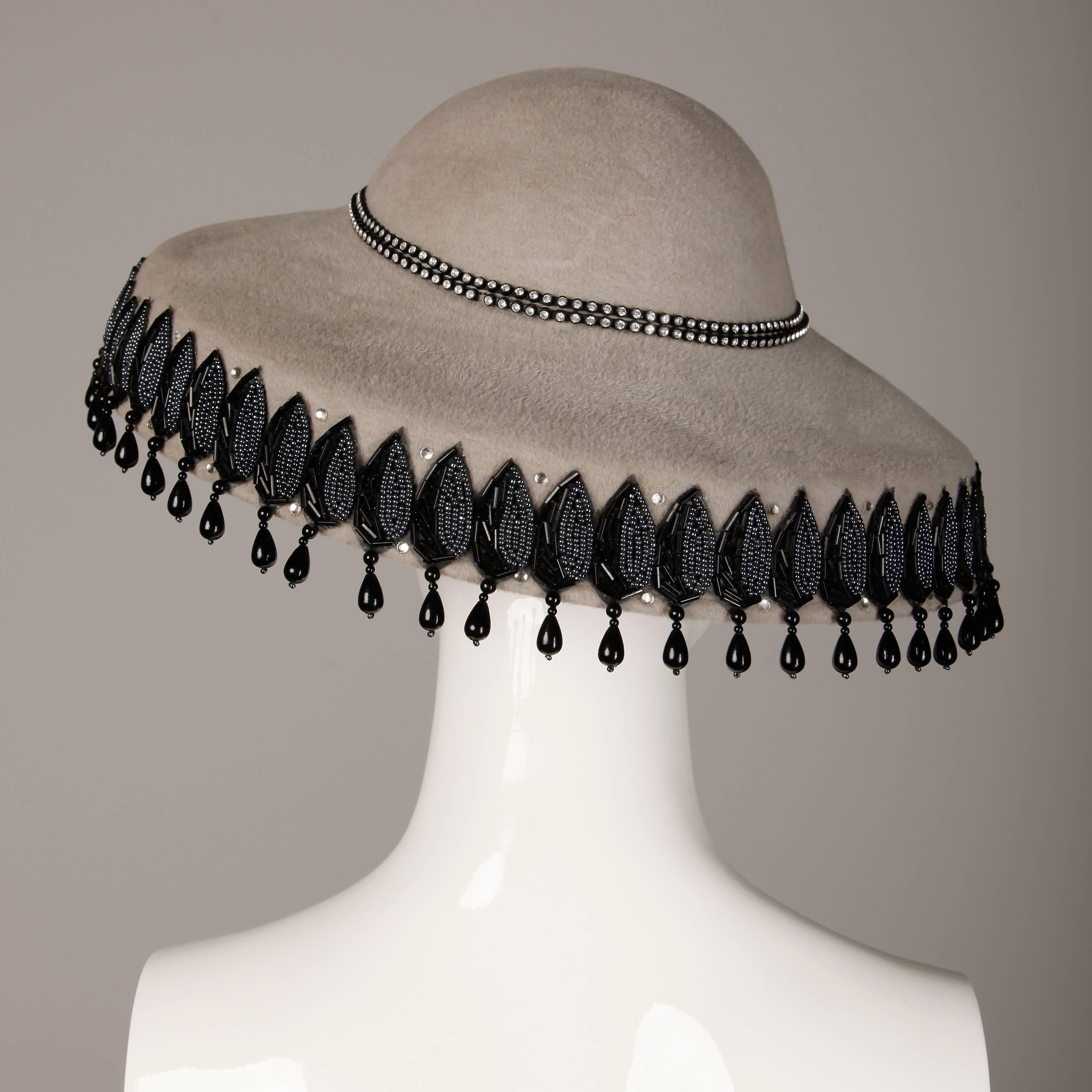 Unworn With Tags Vintage Makins New York Gray Hat With