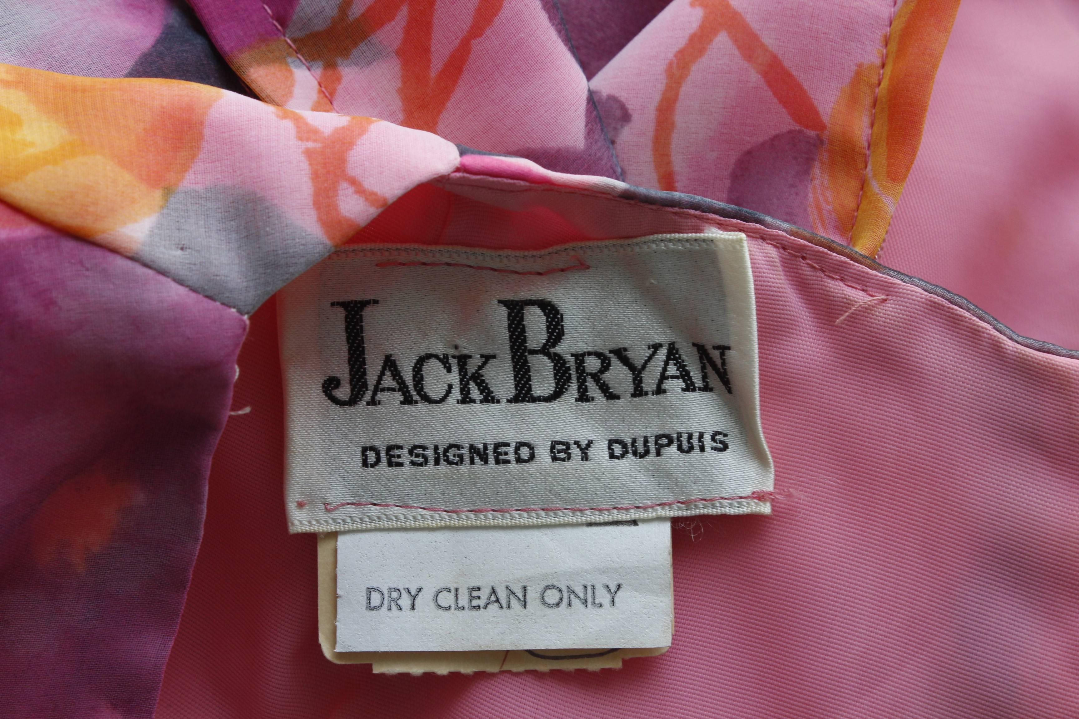 Jack Bryan By Dupuis Floral Chiffon Maxi Dress With Tie