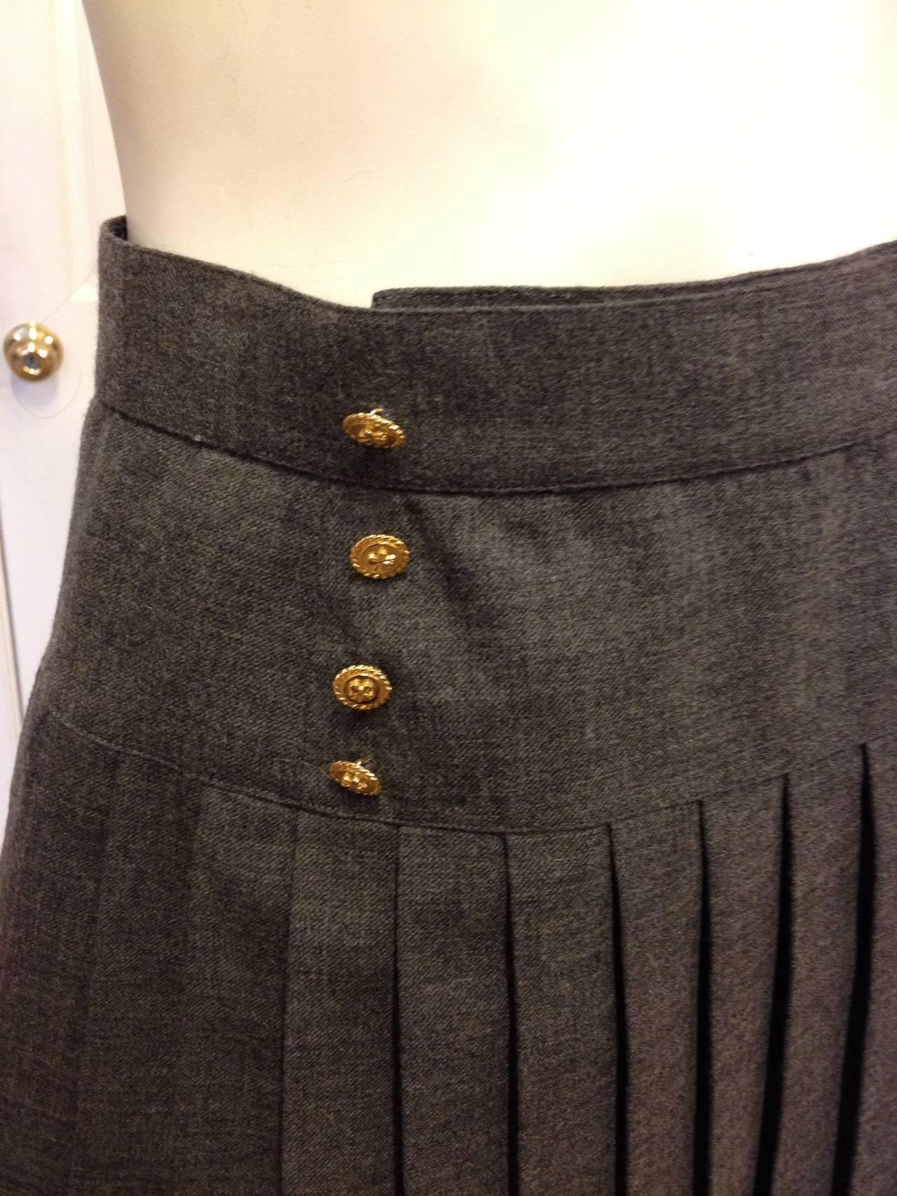 Boots Tweed Brown Skirt