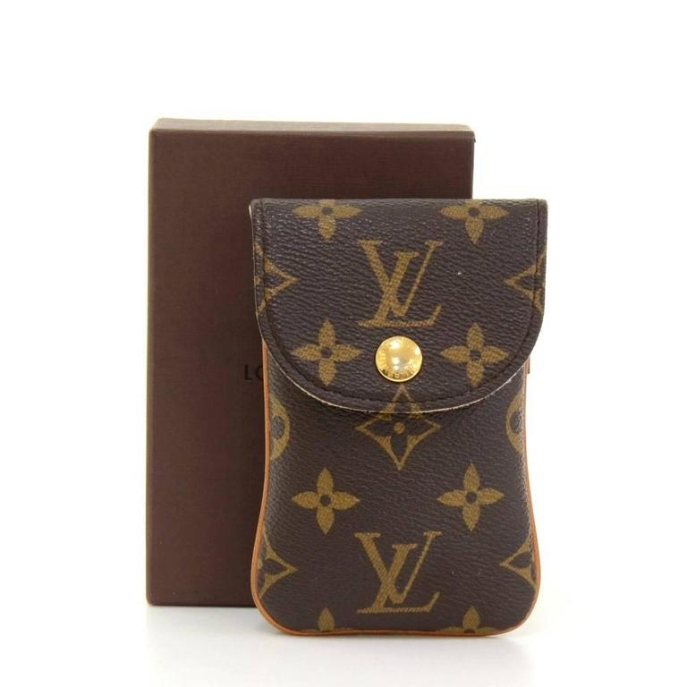Louis Vuitton Etui Telephone Mm Monogram Canvas Phone Case