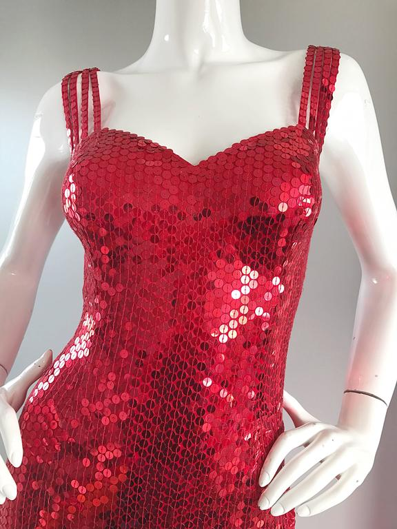 Jessica Rabbit Red Sequin Dress