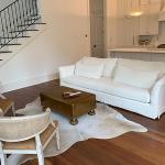 Belgian Linen Slope Arm Sofa For Sale At 1stdibs