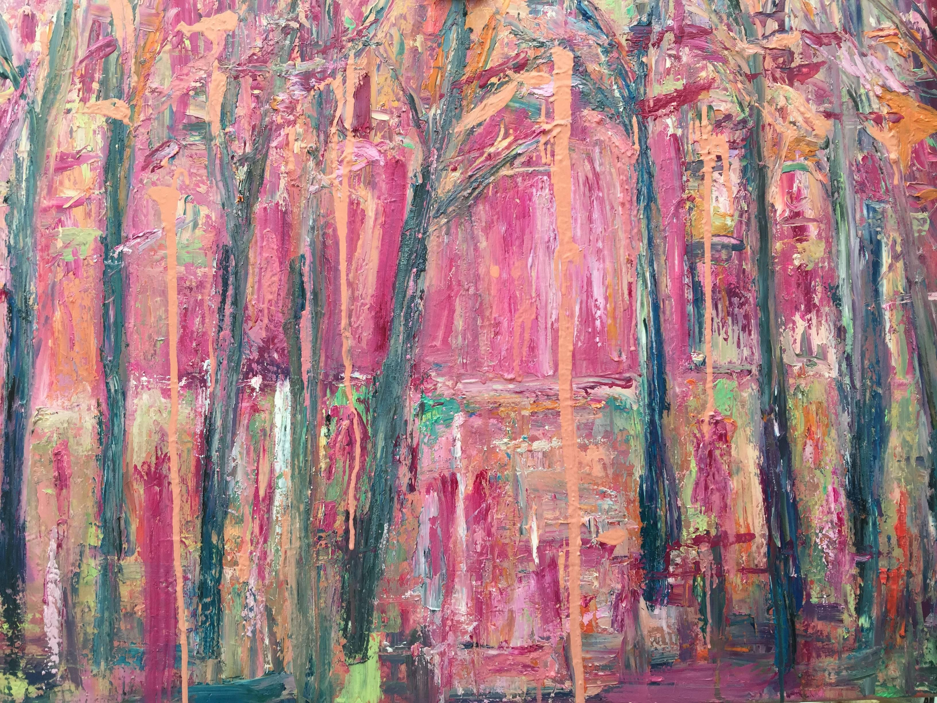 Claire Westwood Woods Original Oil Paint On Thin Box