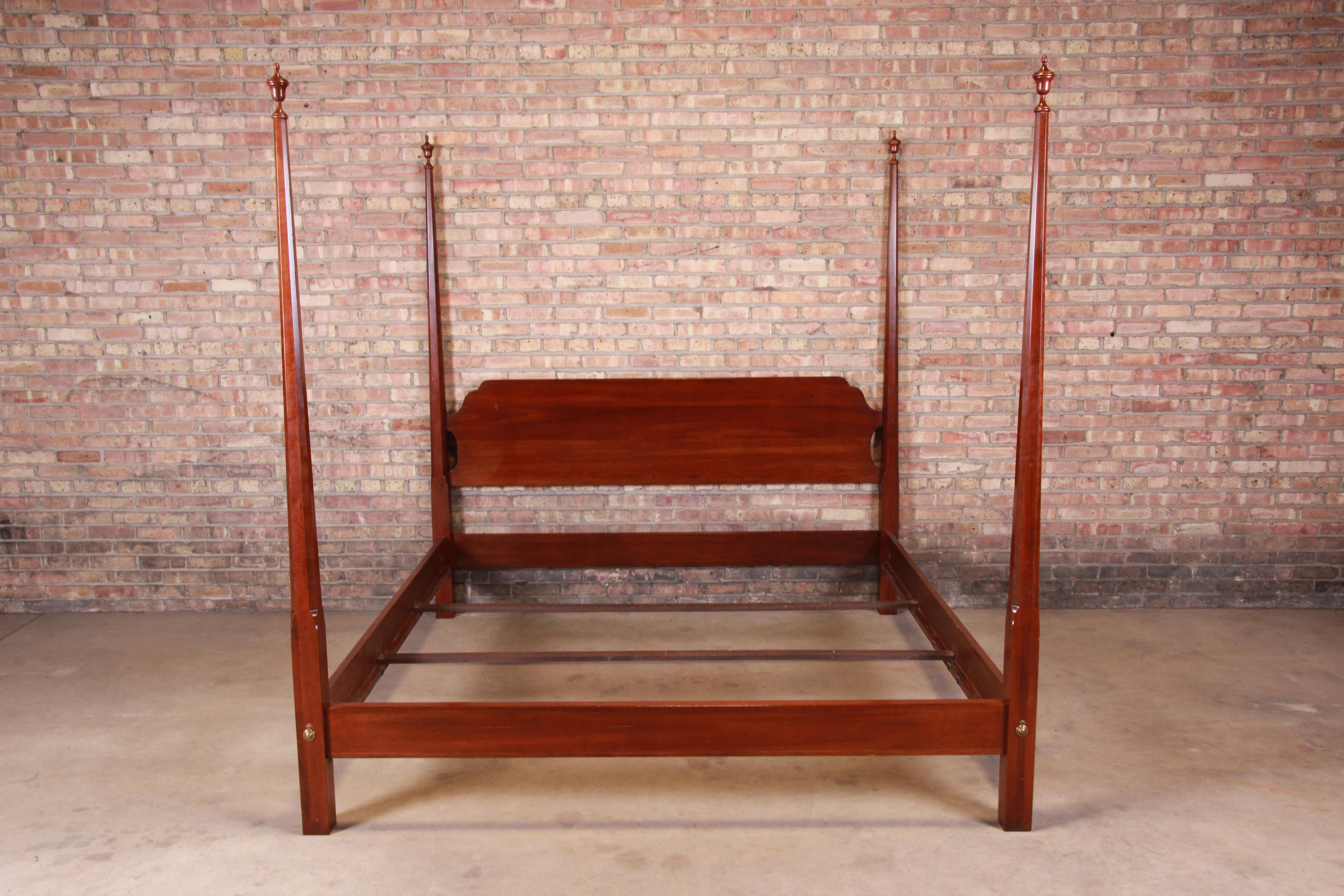 ethan allen knob creek collection mahogany king size poster bed