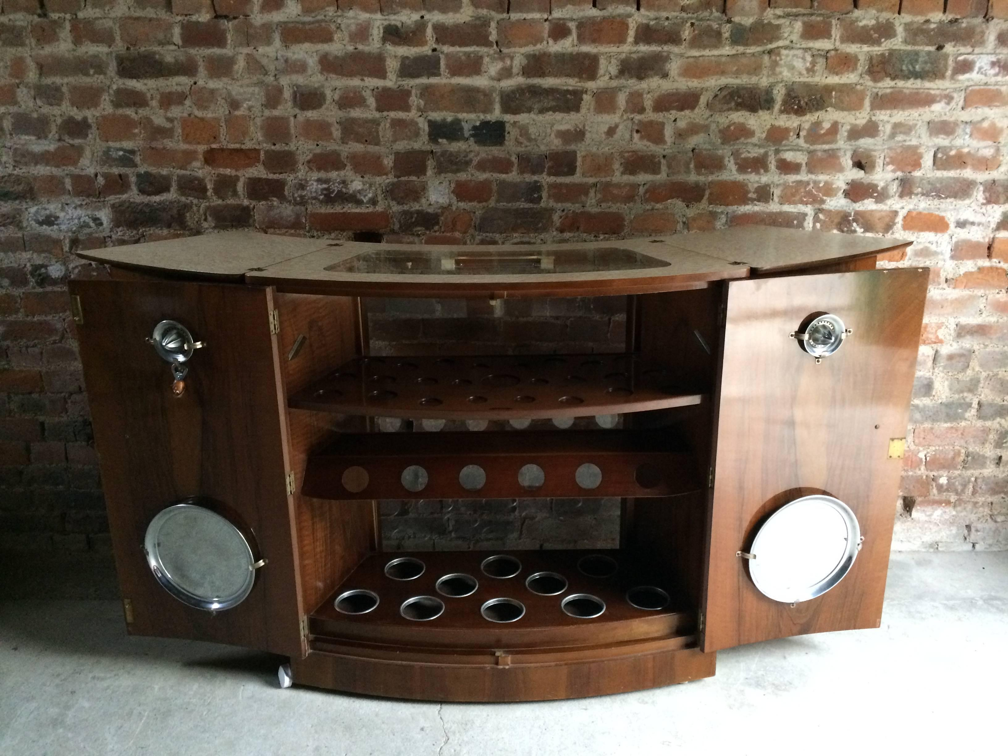 Fabulous 1950s Cocktail Cabinet Bar Drinks Turnidge Of