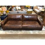 Maxwell Distressed Leather Sofa By Restoration Hardware For