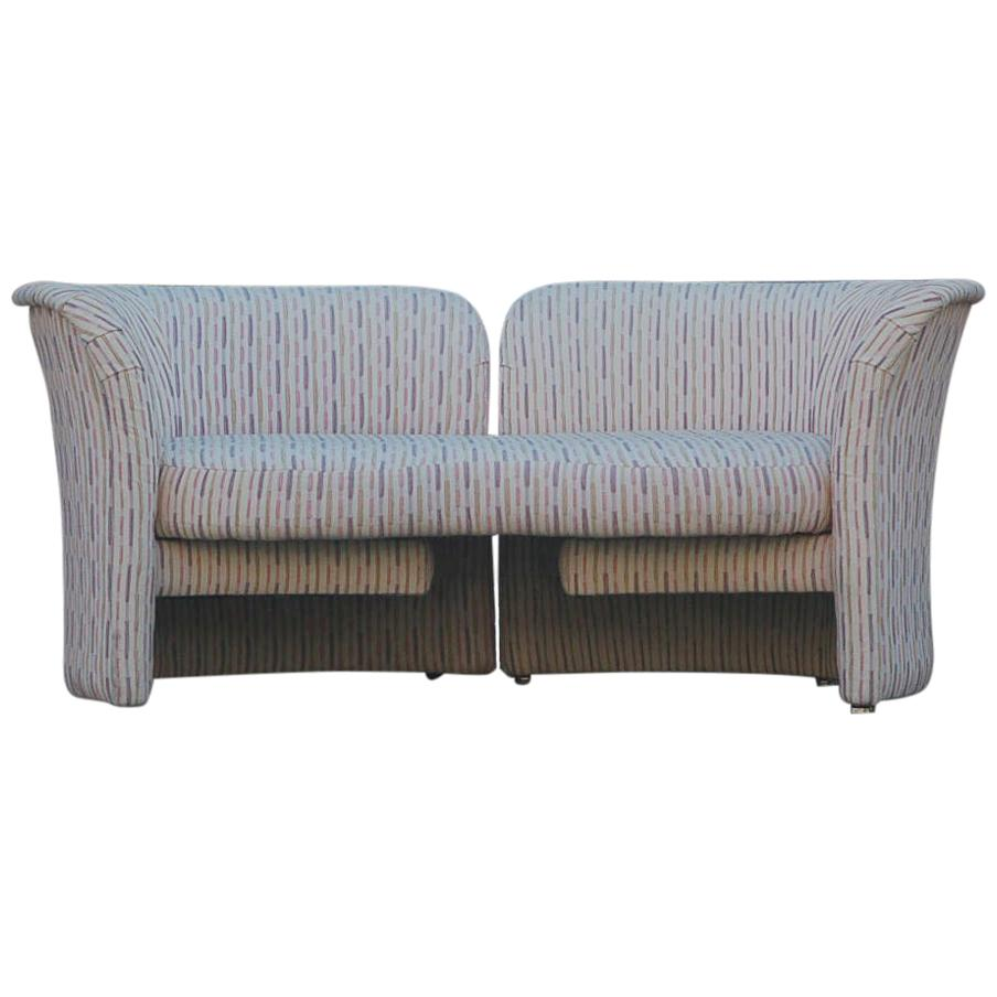 mid century modern curved loveseat sofa or chaise lounge by randy culler