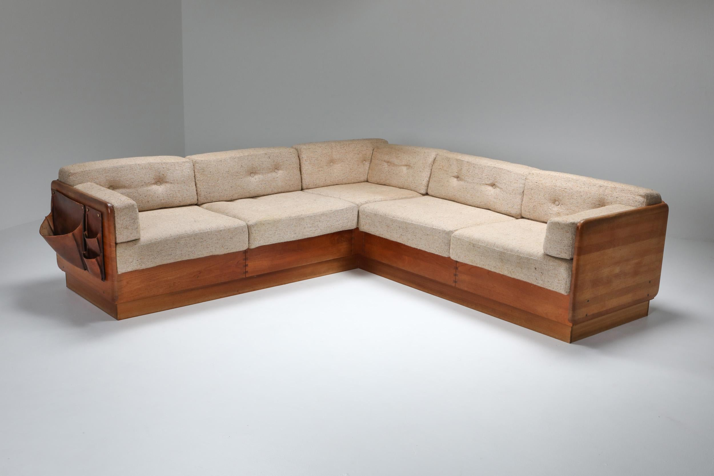 mid century modern sectional couch by mikael laursen