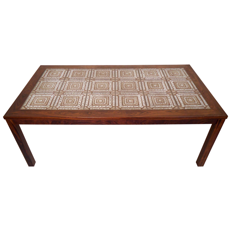 mid century modern tile top coffee table