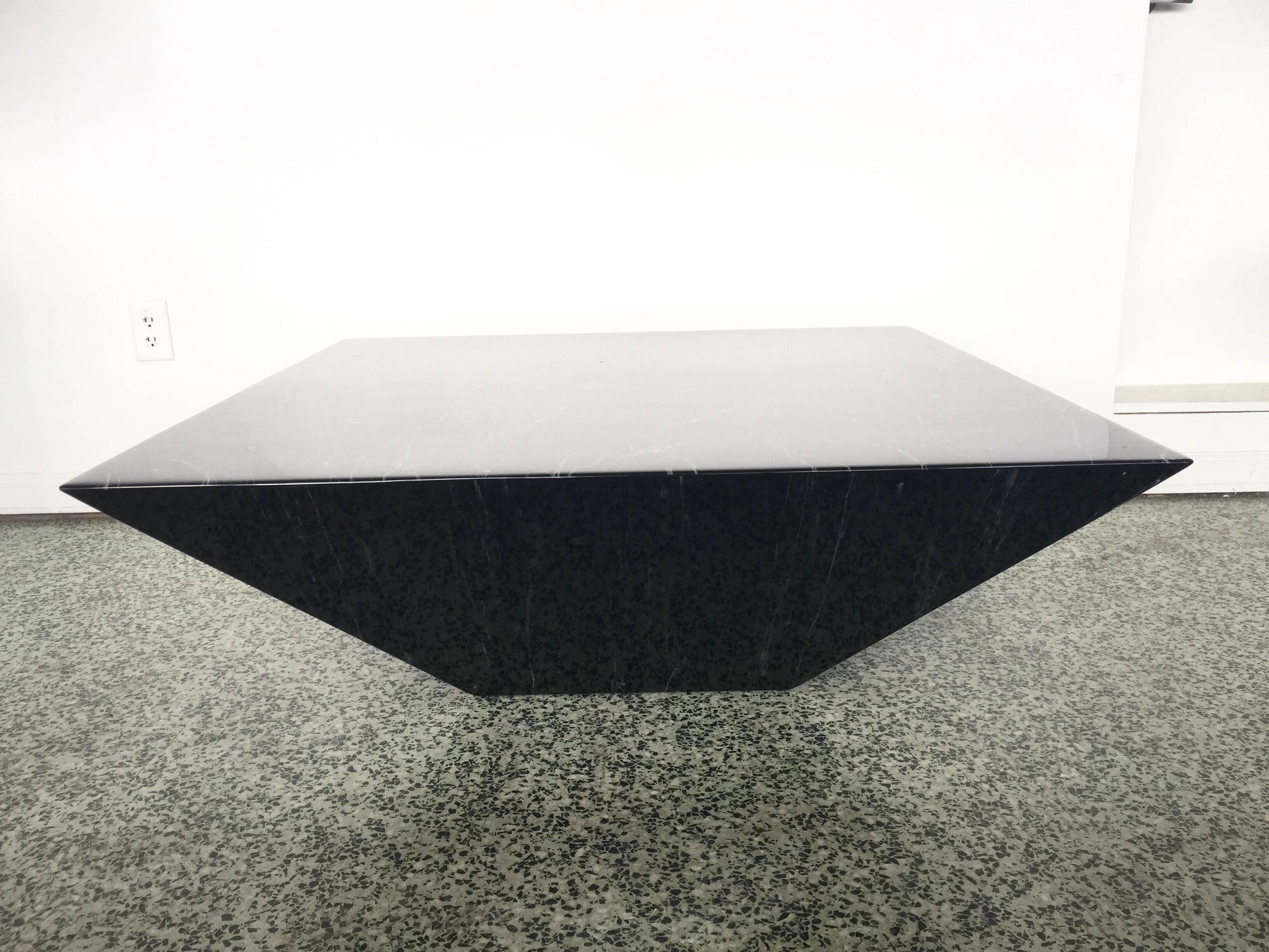 postmodern contemporary triangle pyramid coffee table