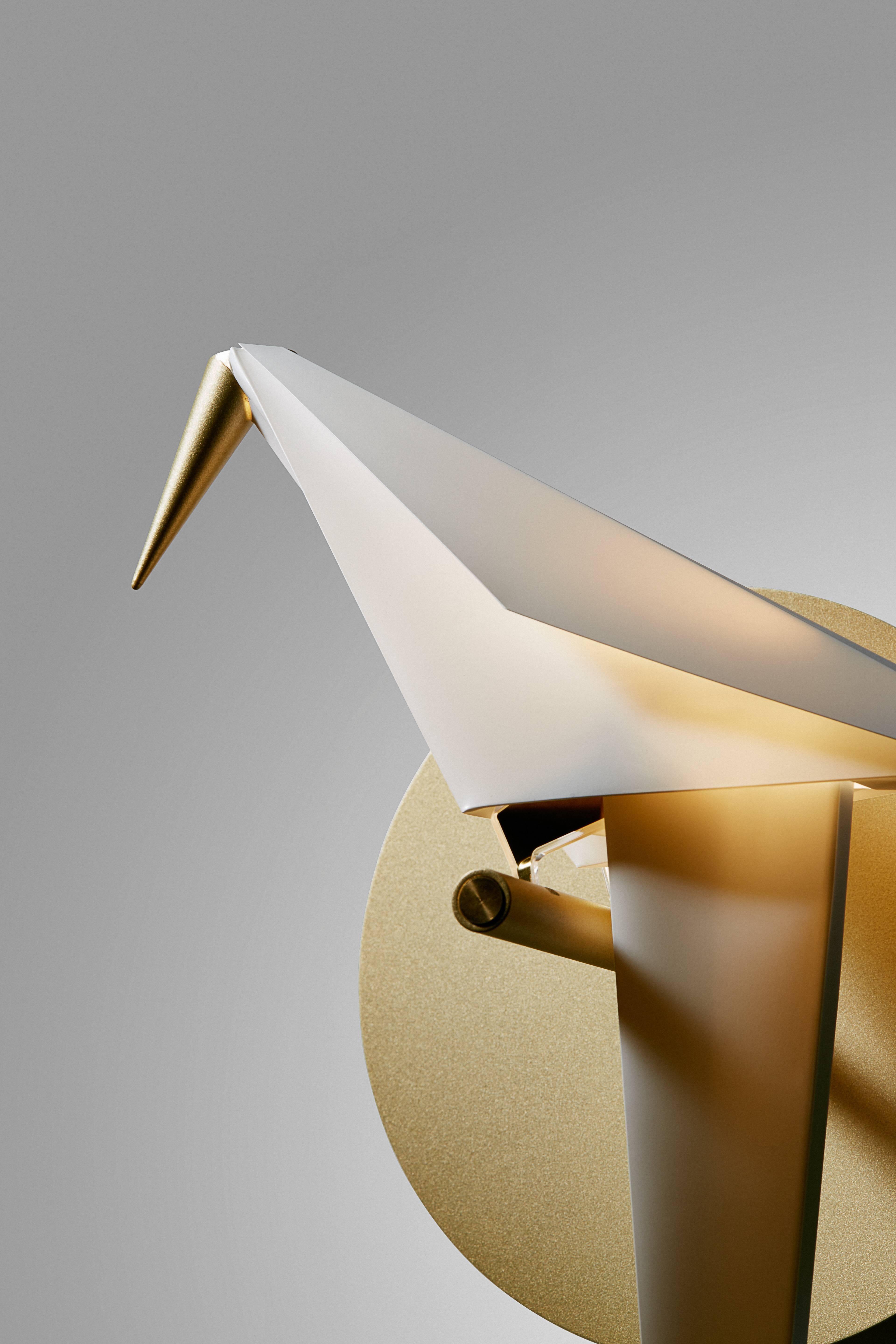 Moooi Perch LED Wall Sconce Light in Brass with Small ... on Small Wall Sconce Light id=47690