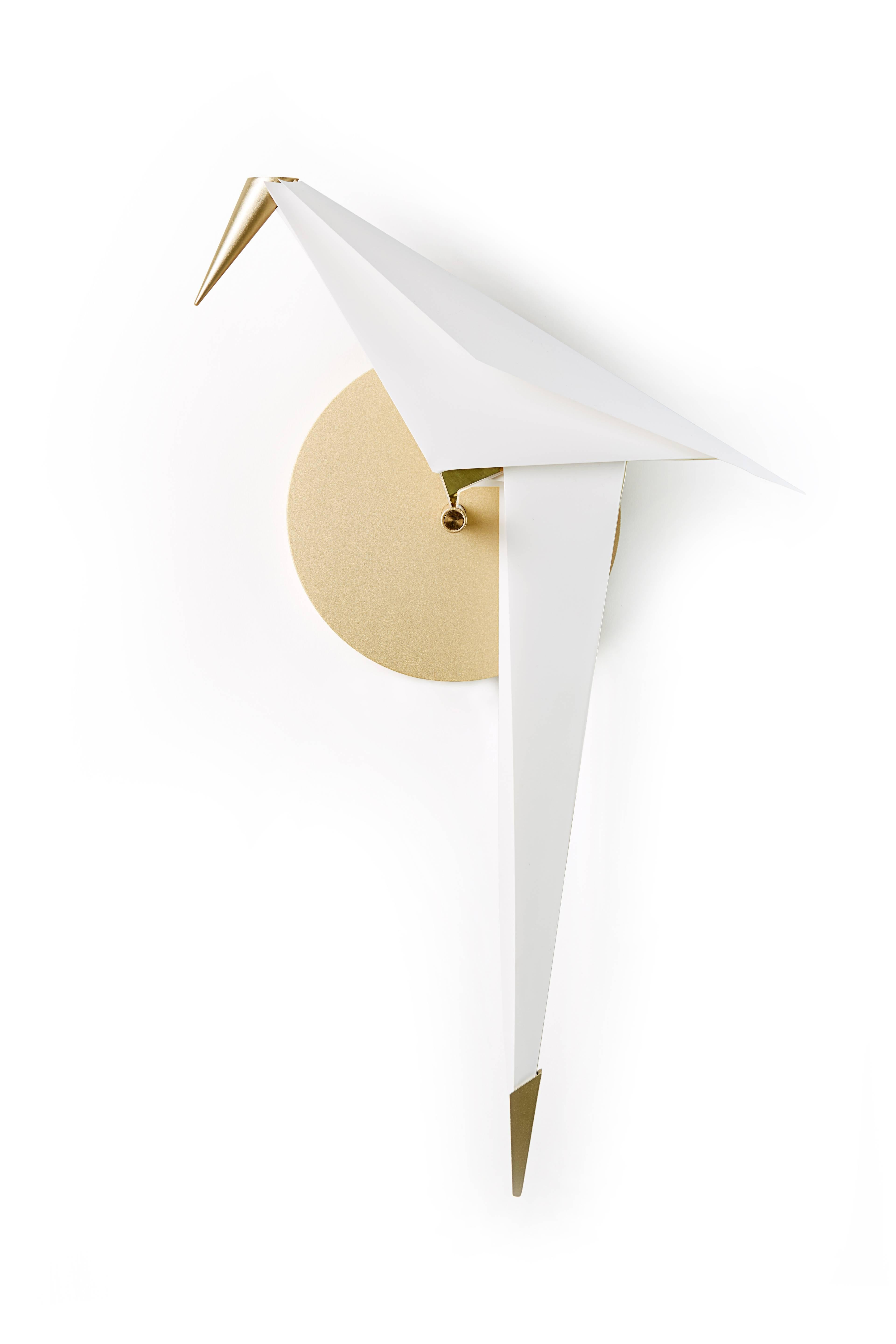 Moooi Perch LED Wall Sconce Light in Brass with Small ... on Small Wall Sconce Light id=72579