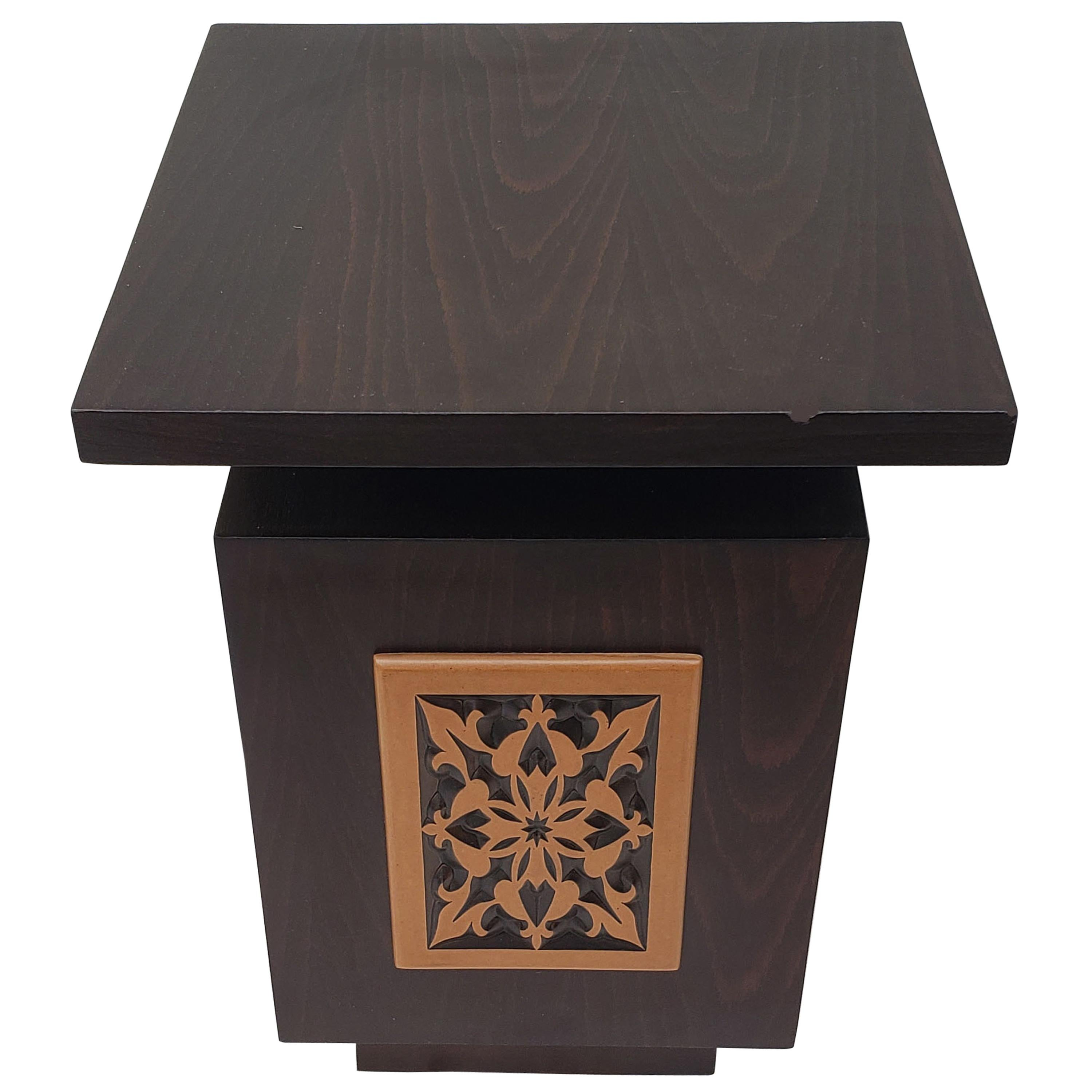Moroccan Contemporary Wooden Side Table Square