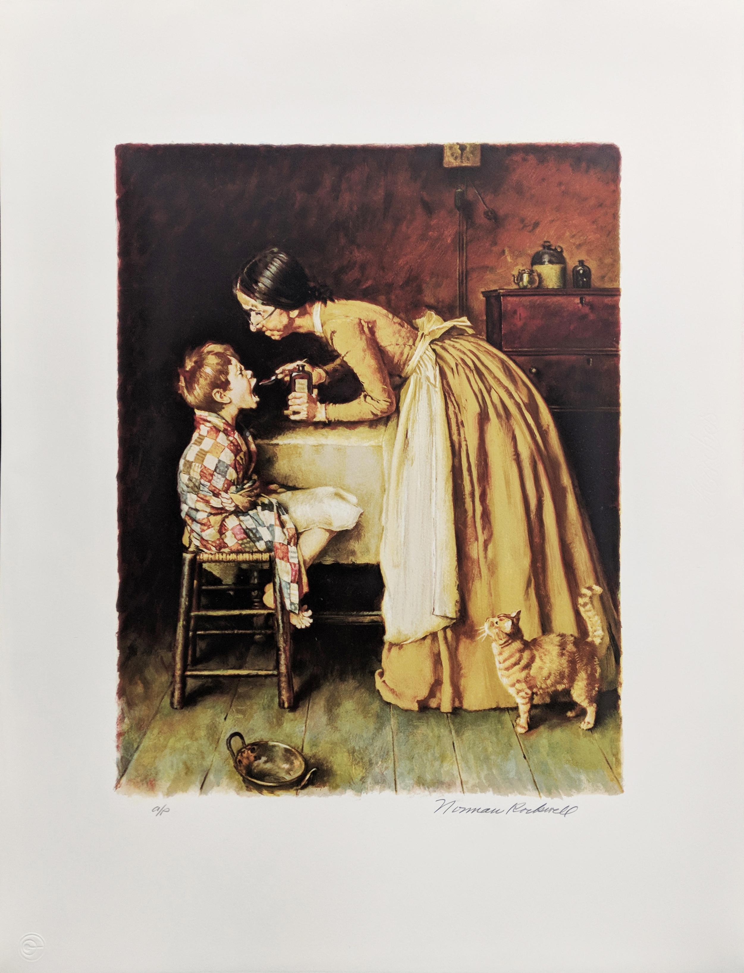 Norman Rockwell Medicine Tom Sawyer Portfolio Print