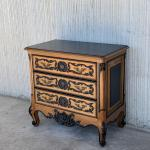 Pair Of 20th Century Country French Louis Xvi Style Pine Nightstands Or Commode