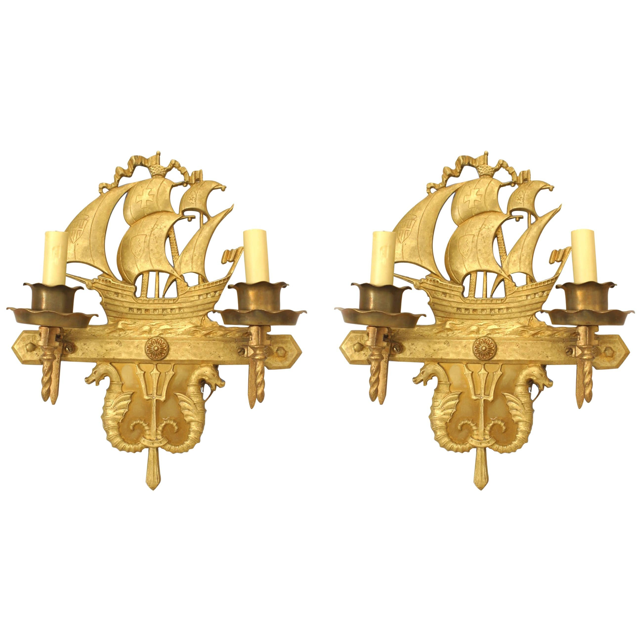 Pair of American Victorian Style Two-Arm Wall Sconces For ... on Victorian Wall Sconces id=60046