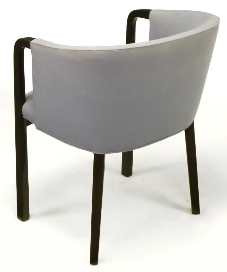 Small Swivel Barrel Blue Chairs