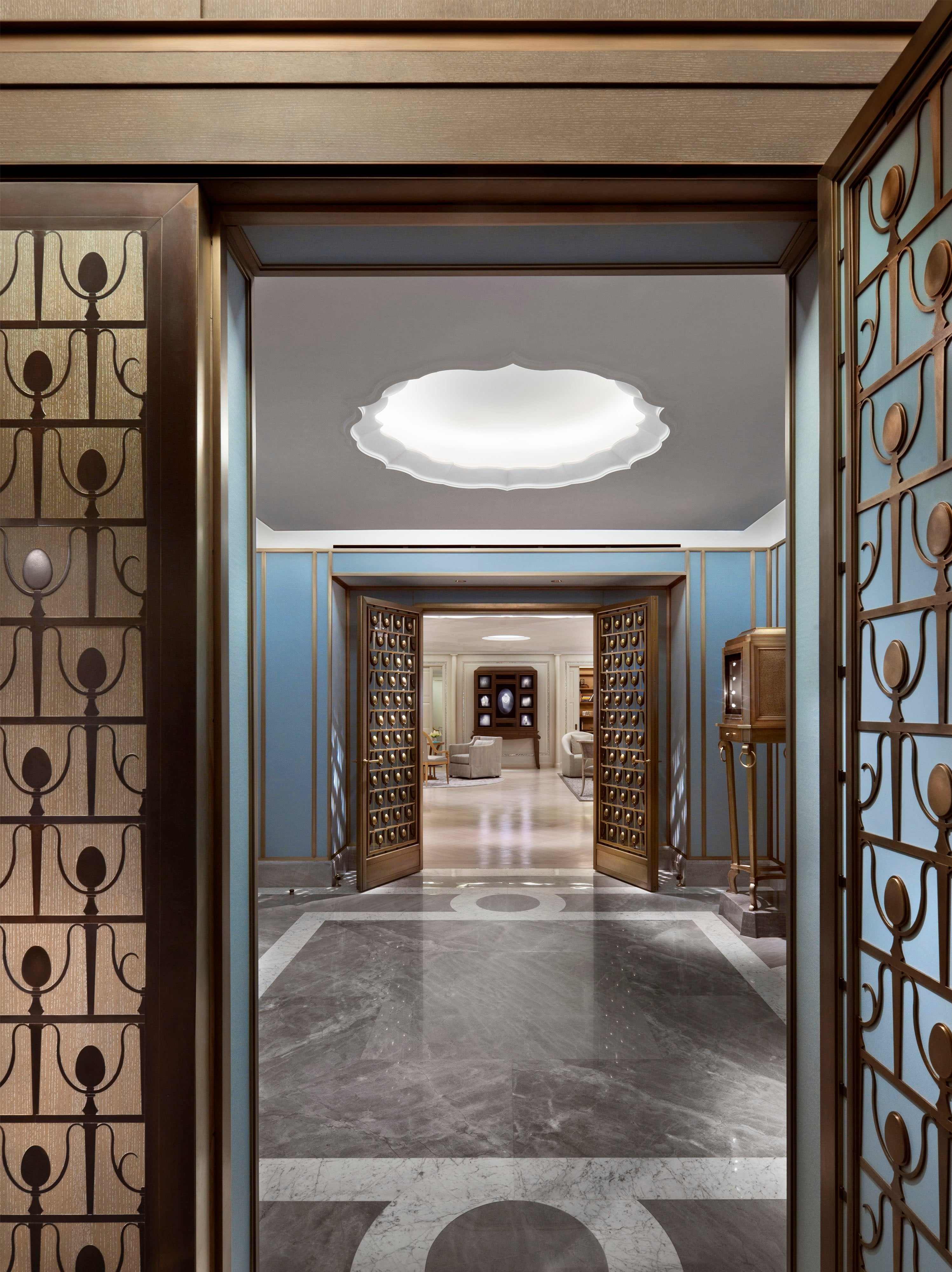 Entry Vestibule Looking To Salon By Robert A M Stern