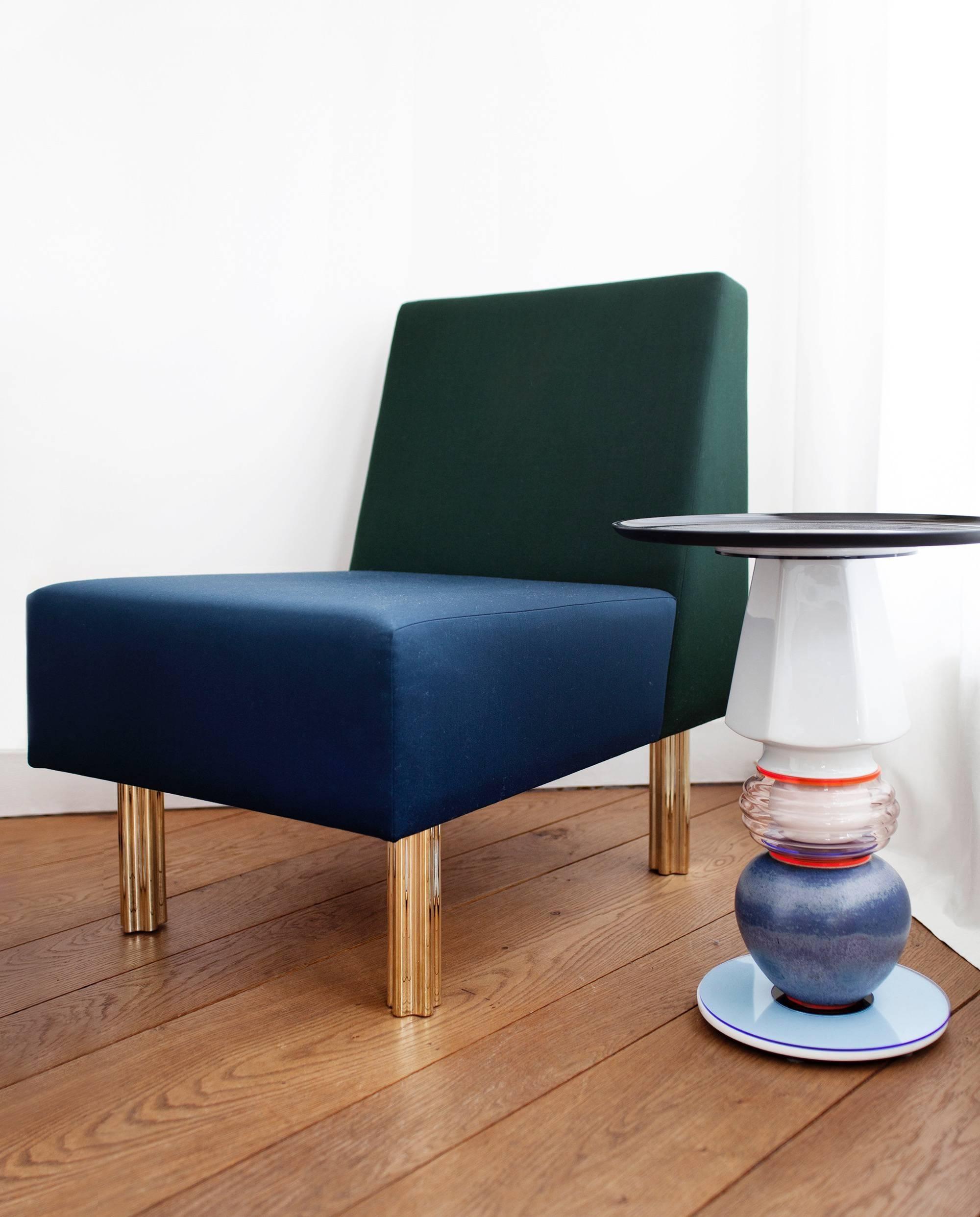 Stella Armchair Fireside Chair Art Deco Style Green