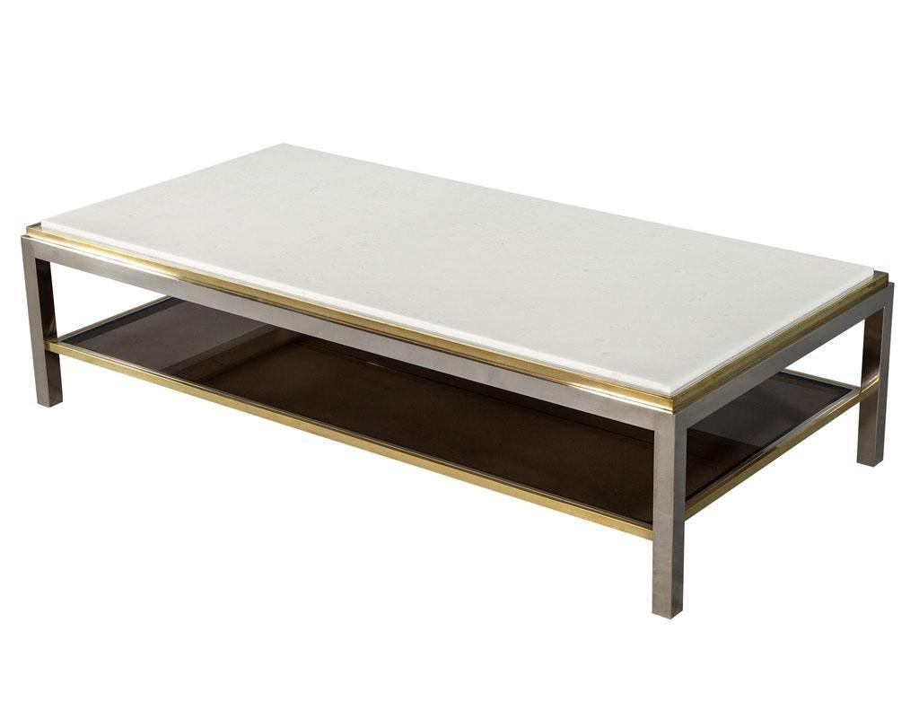 vintage maison jansen marble top coffee table