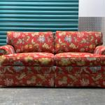 Vintage Pierre Deux French Provincial Red Loose Back Two Seat Sofa Loveseat At 1stdibs
