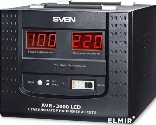 Стабилизатор напряжения Sven AVR-3000 LCD купить | ELMIR ...