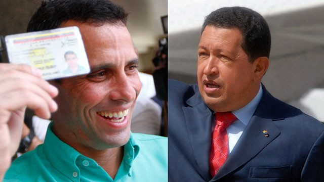 PHOTO: Henrique Capriles (left) is attempting to defeat President Hugo Chavez and stall his plans to turn Venezuela into a socialist state.