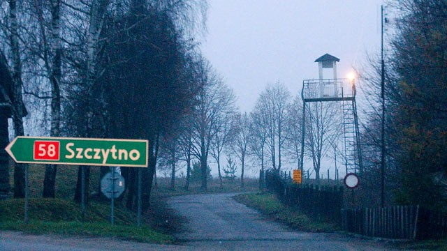 PHOTO: In this Dec. 16, 2005 file photo a watch tower overlooks the area near the Polish intelligence school just outside of Stare Kiejkuty, Poland.