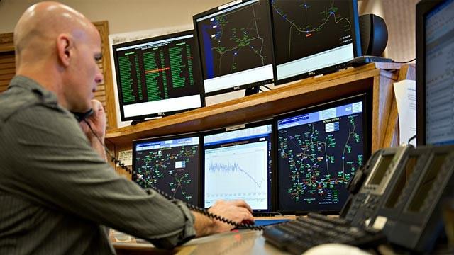 PHOTO: Gas pipeline control room