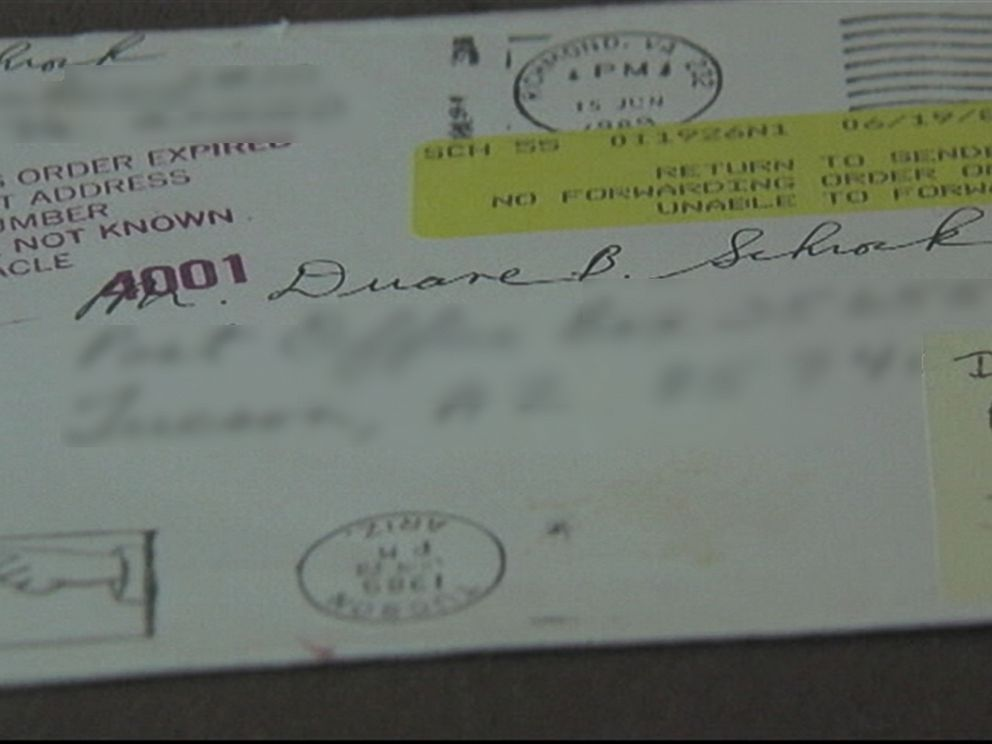 PHOTO: Duane Schrock Jr. sent his father a card on Fathers Day in 1989 but it only reached his father this year.
