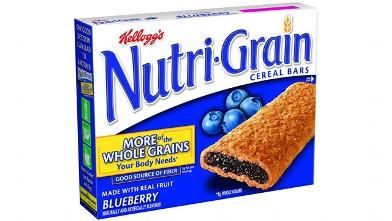 PHOTO: Kellogg's blueberry nutrigrain bars have Blue 1 in them.