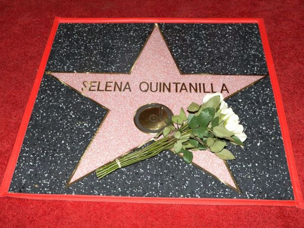 PHOTO: Singer Selena Quintanilla is honored posthumously with a Star on the Hollywood Walk of Fame, Nov. 3, 2017, in Hollywood, Calif.