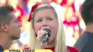 "VIDEO:  Are critics of the girl's rendition of the ""Star Spangled Banner"" being too harsh?"