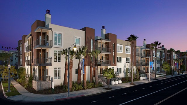 PHOTO: KB Home's Primera Terra residential community located in Playa Vista, California. It is the largest LEED Platinum-certified residential community in California, featuring energy-efficient tankless water