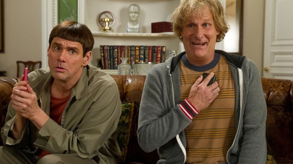 "PHOTO: Jim Carrey, left, and Jeff Daniels in a scene from ""Dumb and Dumber To."""