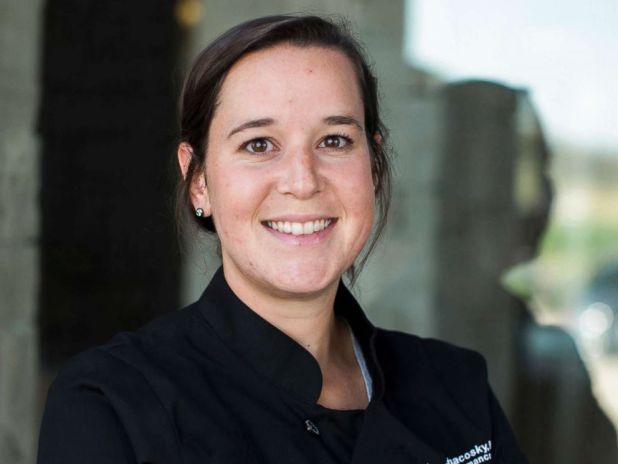 PHOTO: U.S. Ski & Snowboard team high performance chef Megan Chacosky will prepare food for U.S. athletes at the 2018 Winter Olympics in South Korea.